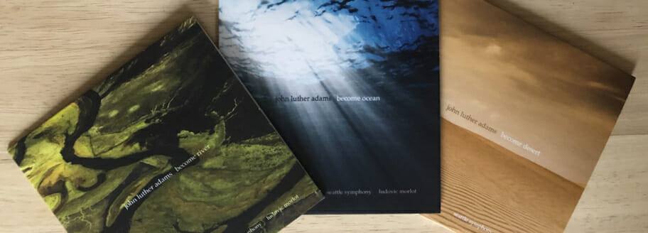 "Now in stock: ""The Become Trilogy"", a 3-CD box set numbered and signed by John Luther Adams!"